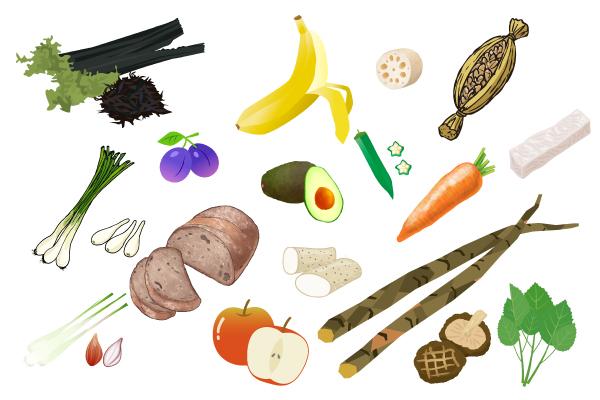 水溶性食物繊維を含む食材